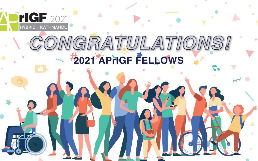 APrIGF Fellowship 2021 Results